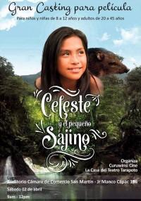 Celeste y el pequeño sajino (ampliar imagen)